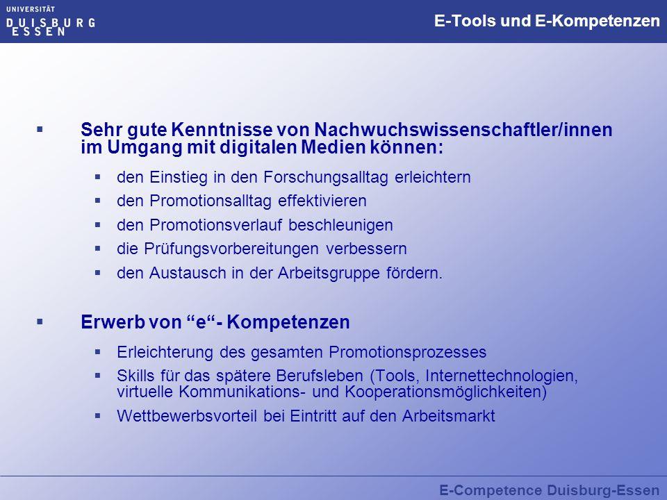 E-Tools und E-Kompetenzen