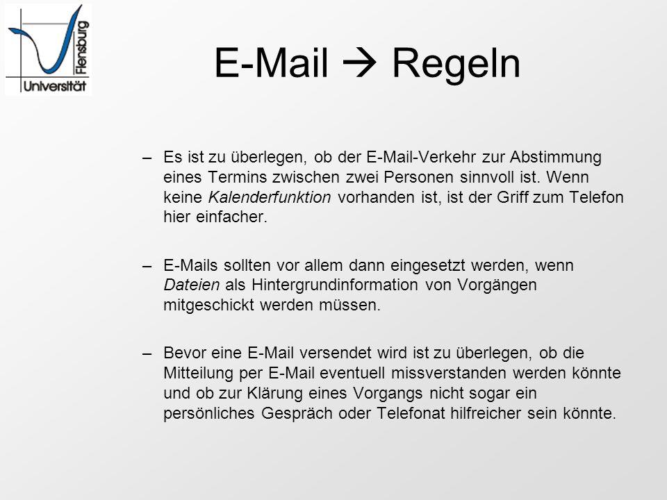 E-Mail  Regeln
