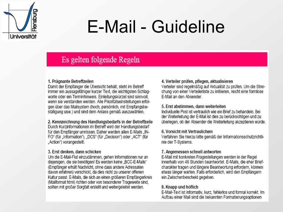 E-Mail - Guideline
