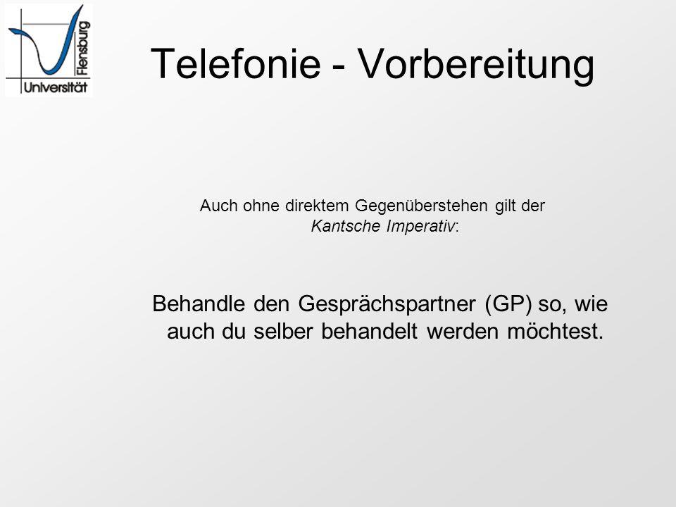 Telefonie - Vorbereitung