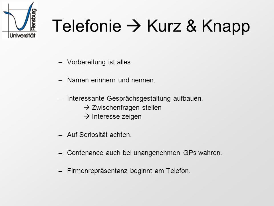 Telefonie  Kurz & Knapp