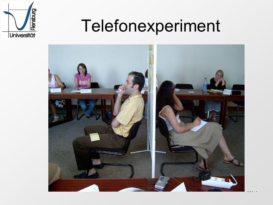 Telefonexperiment … .