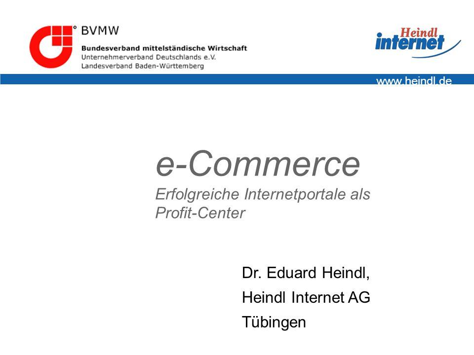 e-Commerce Erfolgreiche Internetportale als Profit-Center