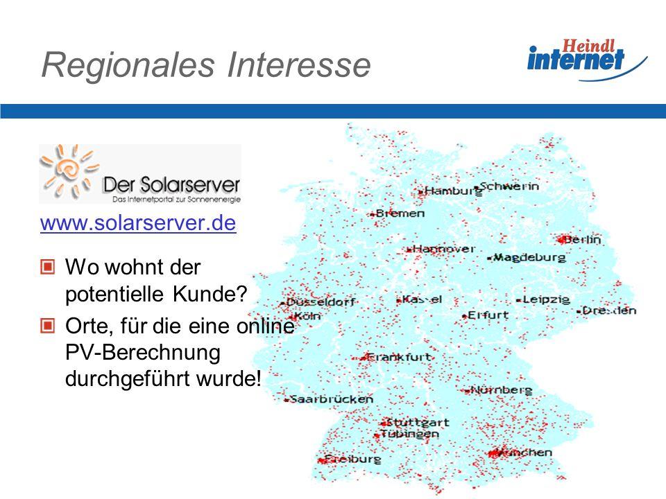 Regionales Interesse www.solarserver.de