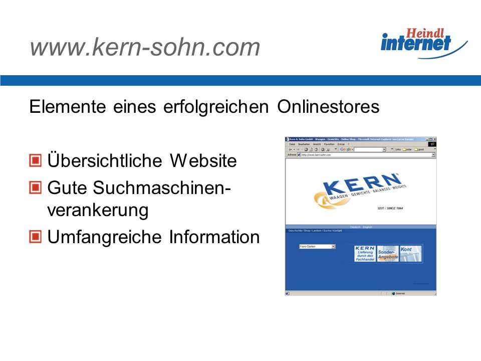 www.kern-sohn.com Elemente eines erfolgreichen Onlinestores