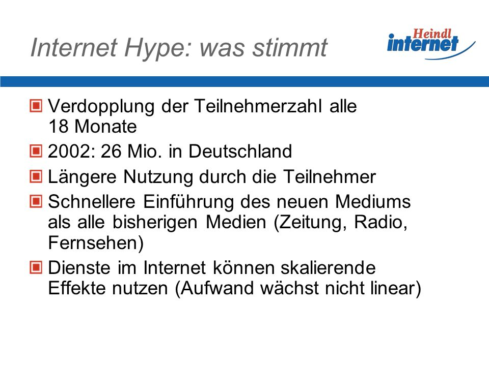 Internet Hype: was stimmt