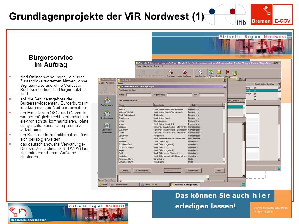 Grundlagenprojekte der ViR Nordwest (1)