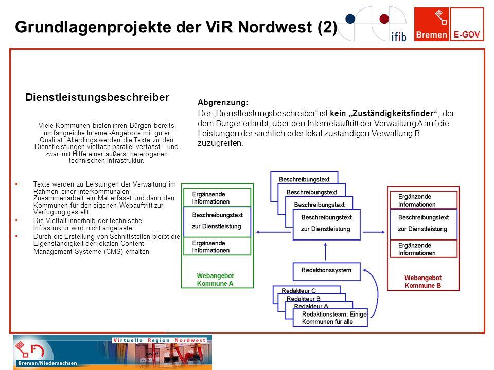 Grundlagenprojekte der ViR Nordwest (2)