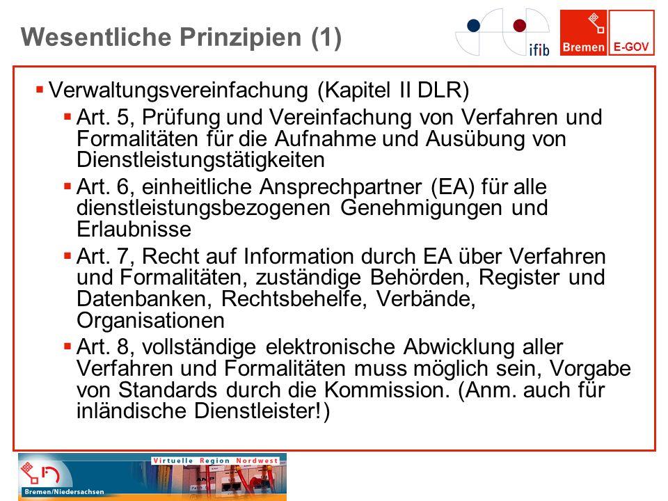 Wesentliche Prinzipien (1)
