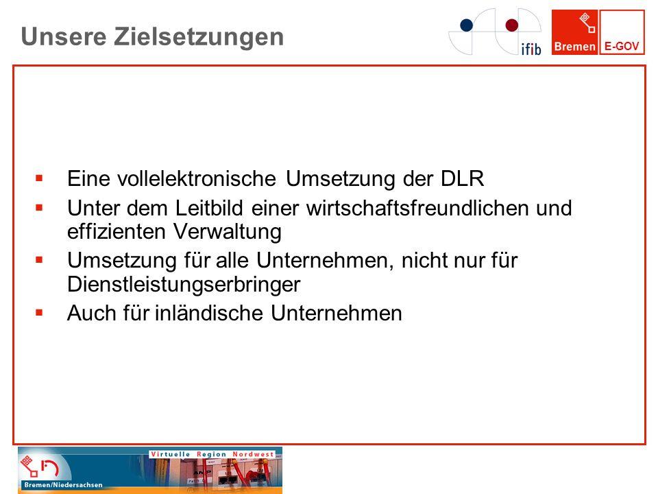 Unsere Zielsetzungen Eine vollelektronische Umsetzung der DLR
