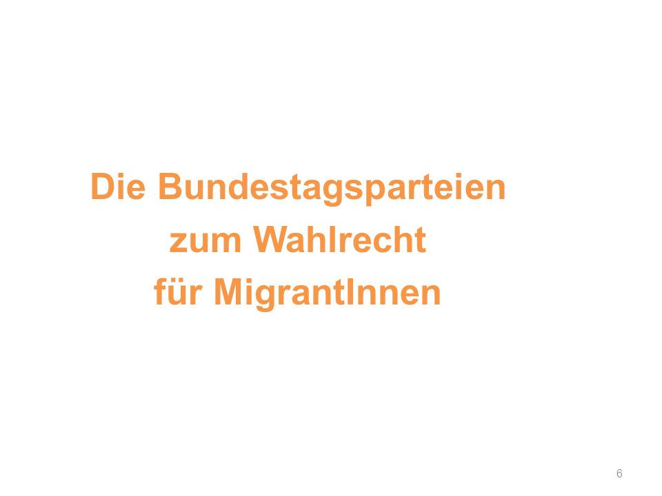 Die Bundestagsparteien