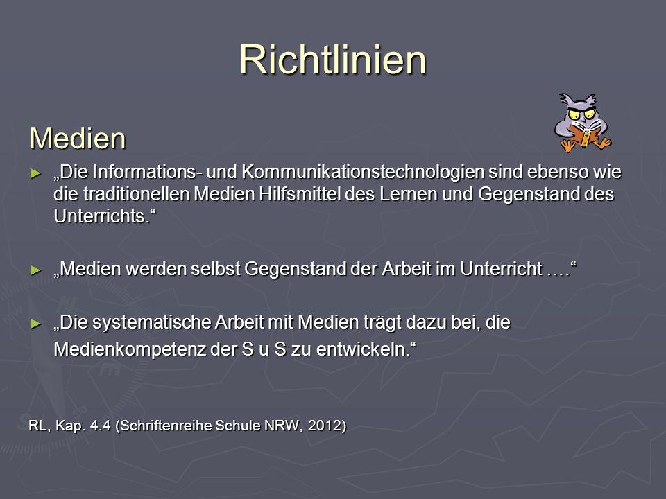 Richtlinien Medien.
