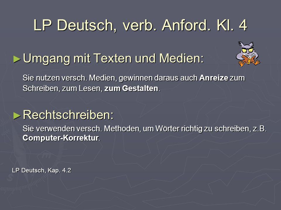 LP Deutsch, verb. Anford. Kl. 4