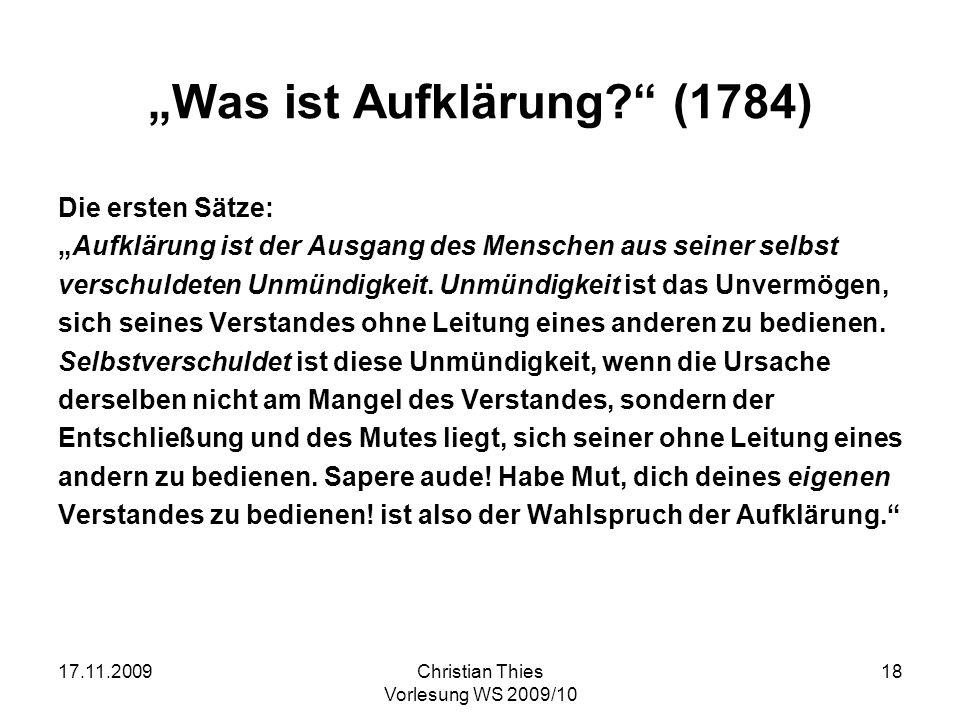 """""""Was ist Aufklärung (1784)"""