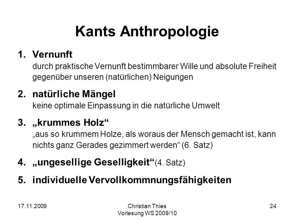 """Kants Anthropologie Vernunft natürliche Mängel """"krummes Holz"""