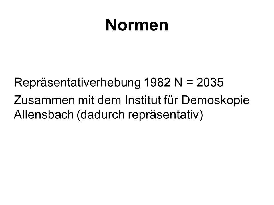 Normen Repräsentativerhebung 1982 N = 2035