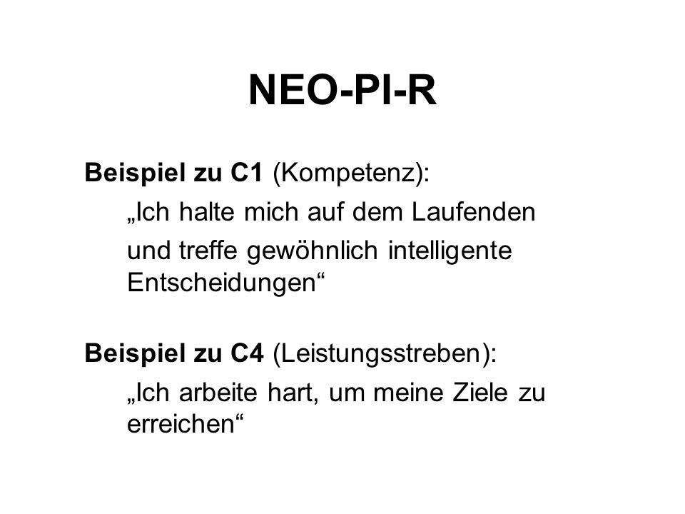 NEO-PI-R Beispiel zu C1 (Kompetenz):