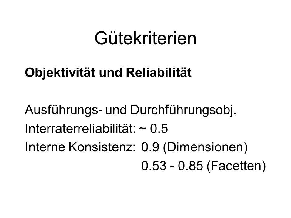 Gütekriterien Objektivität und Reliabilität