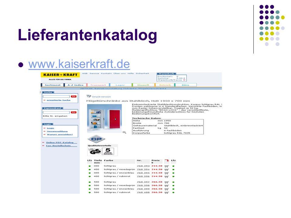 Lieferantenkatalog www.kaiserkraft.de