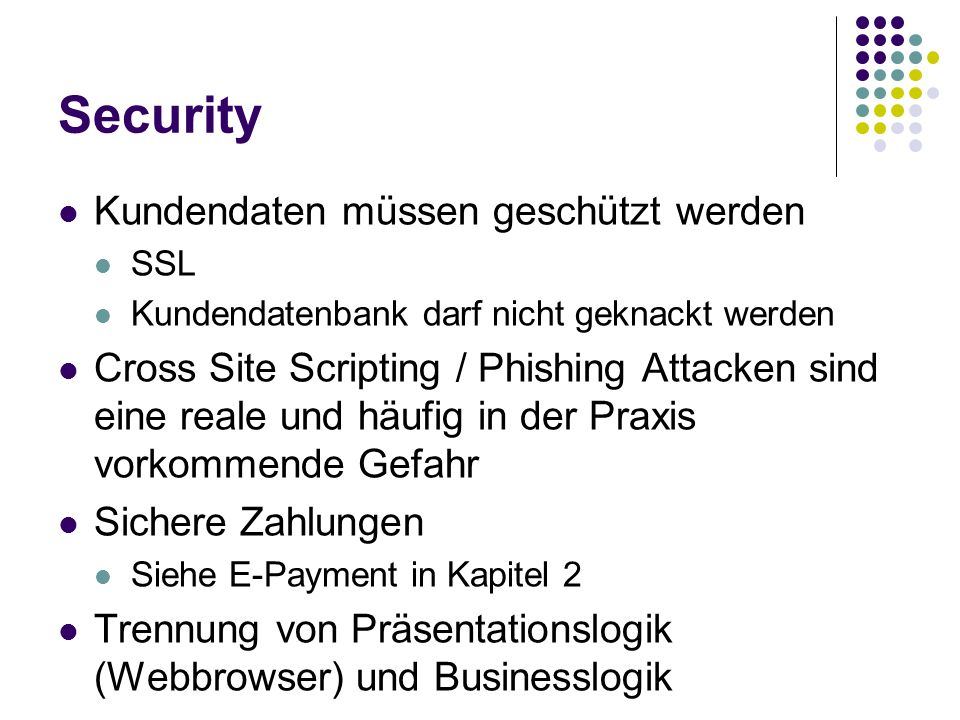 Security Kundendaten müssen geschützt werden