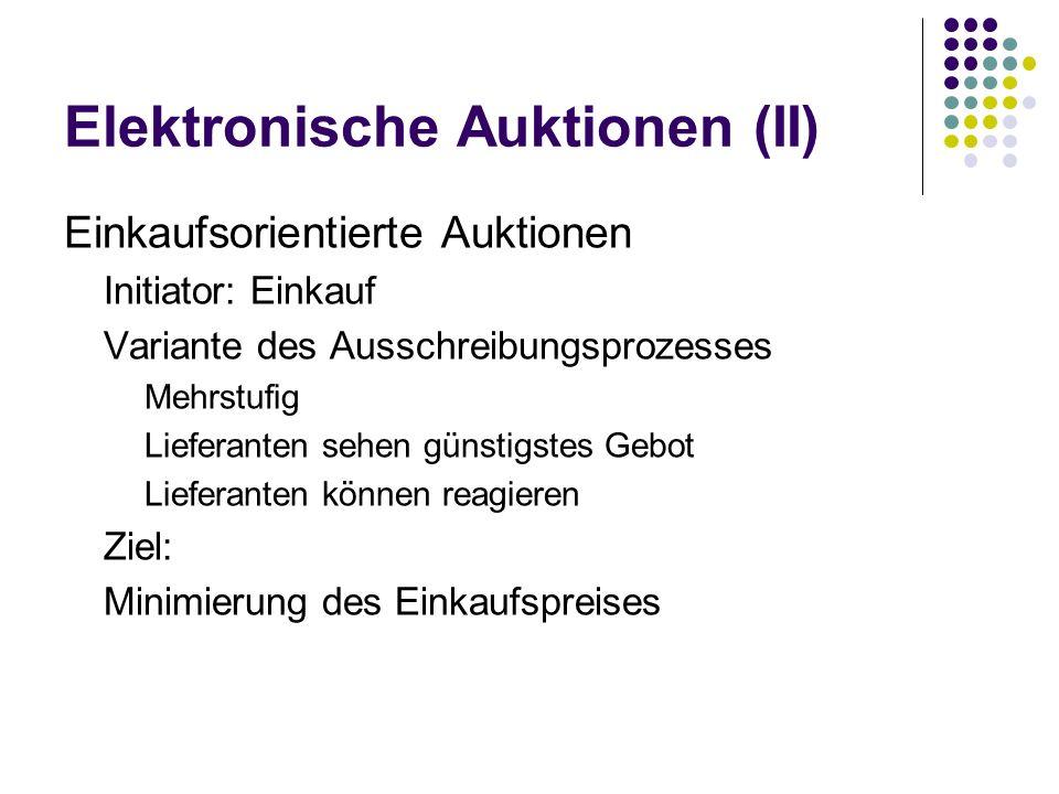 Elektronische Auktionen (II)