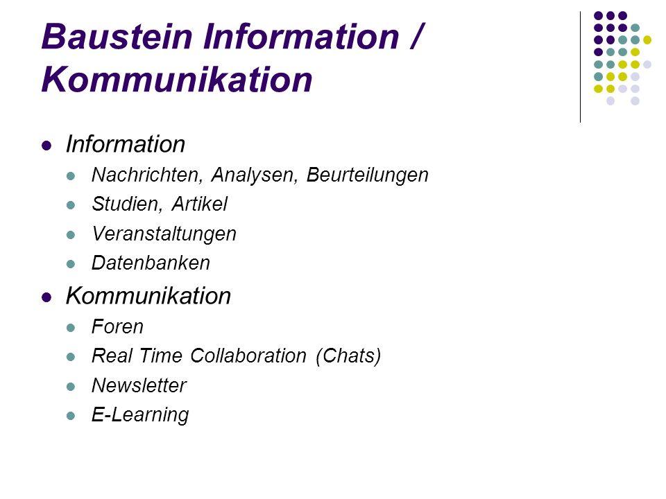 Baustein Information / Kommunikation