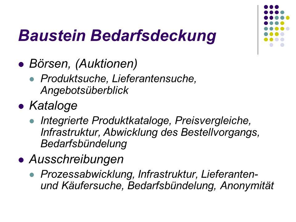 Baustein Bedarfsdeckung