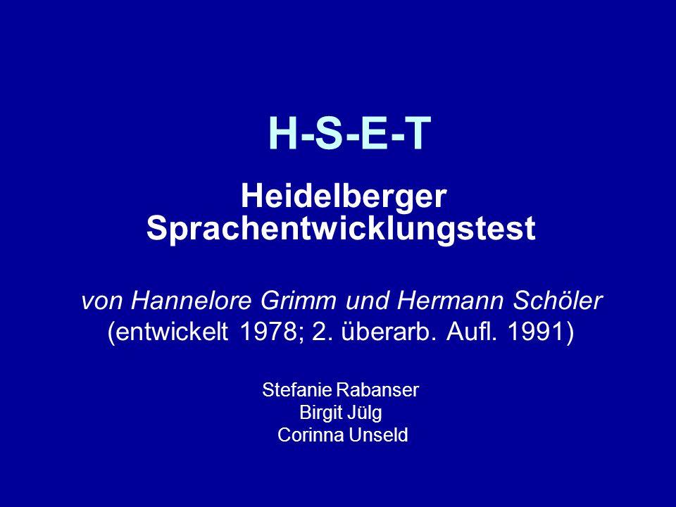 H-S-E-T von Hannelore Grimm und Hermann Schöler