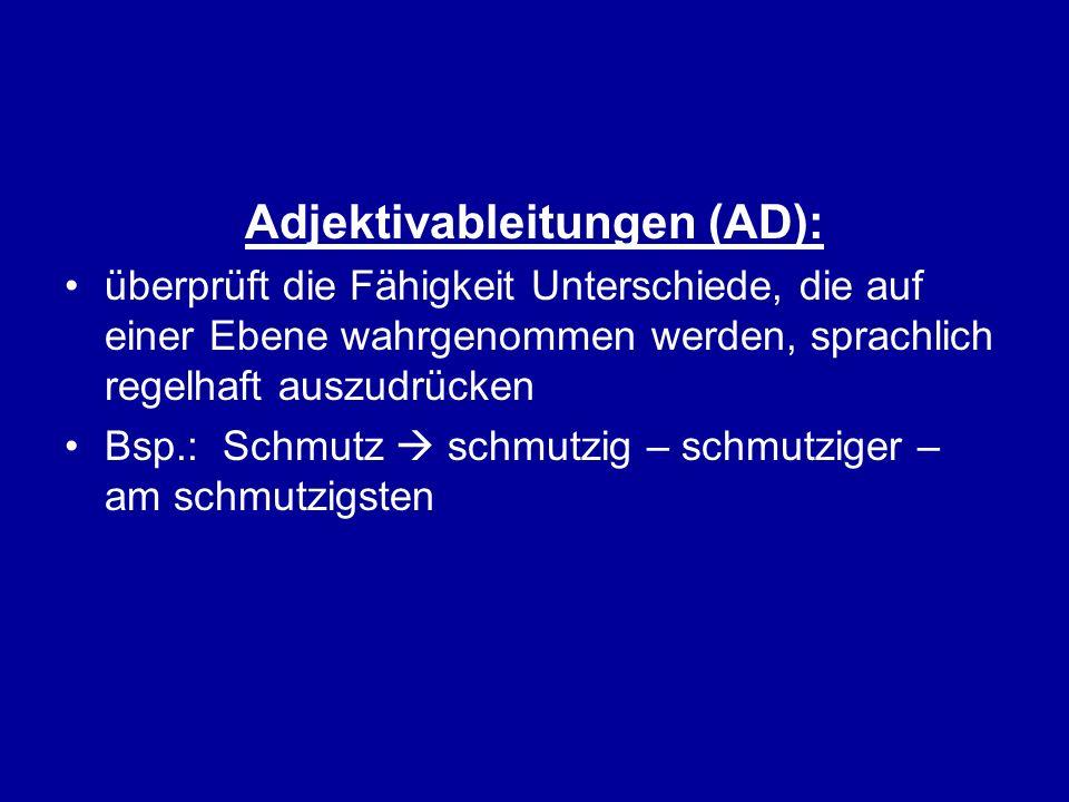 Adjektivableitungen (AD):