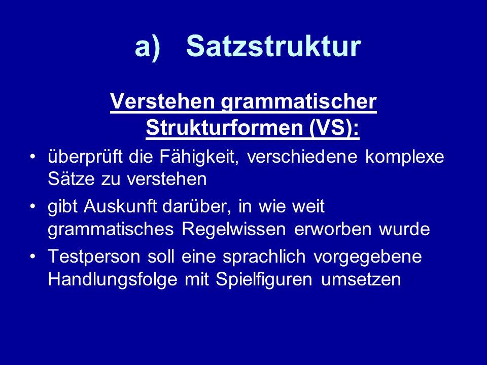 Verstehen grammatischer Strukturformen (VS):