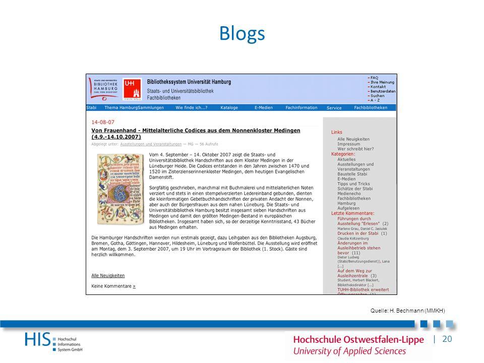 Blogs Publizieren: Weblog