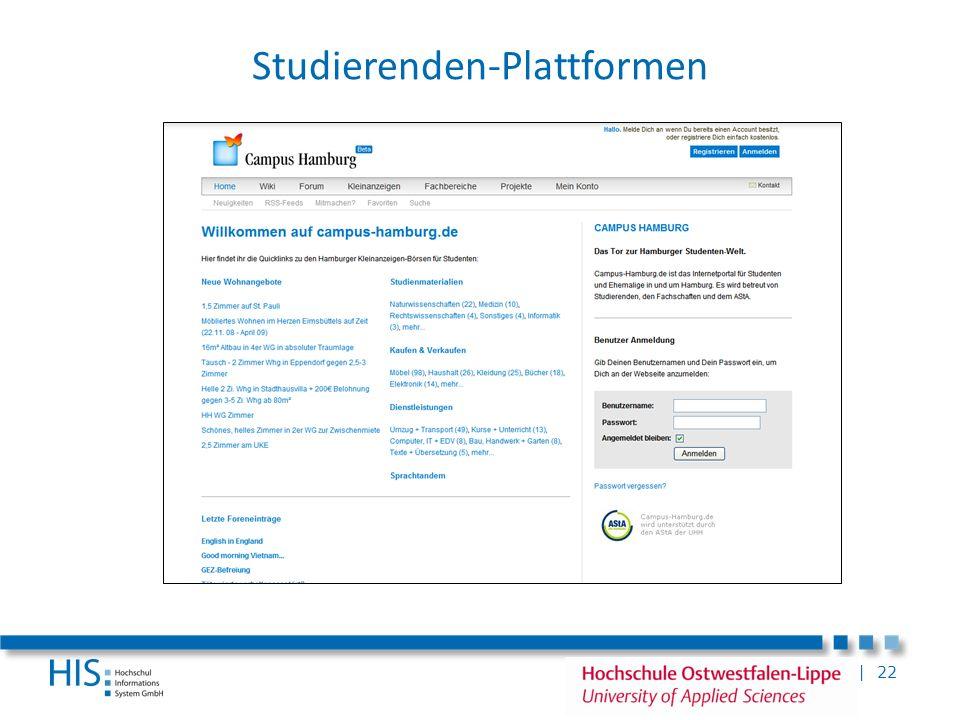 Studierenden-Plattformen