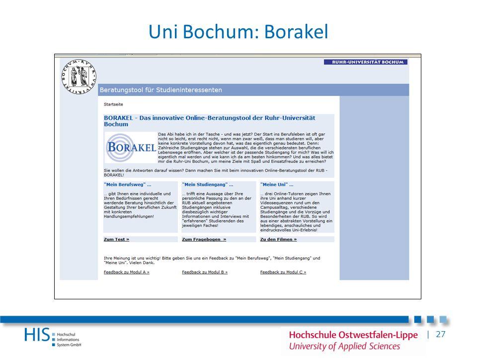 Uni Bochum: Borakel