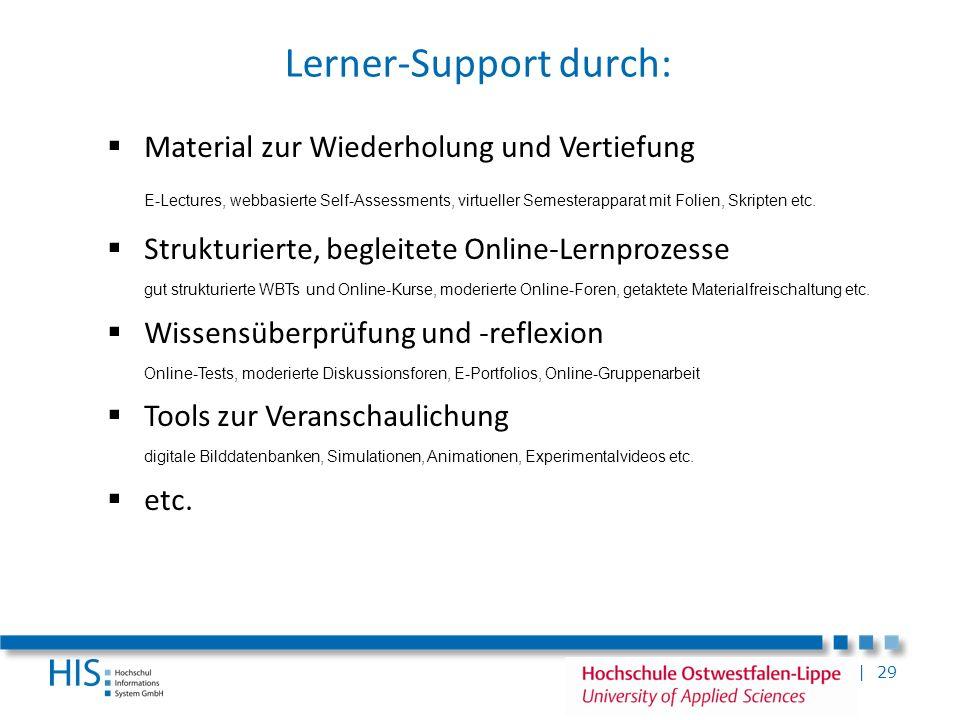 Lerner-Support durch: