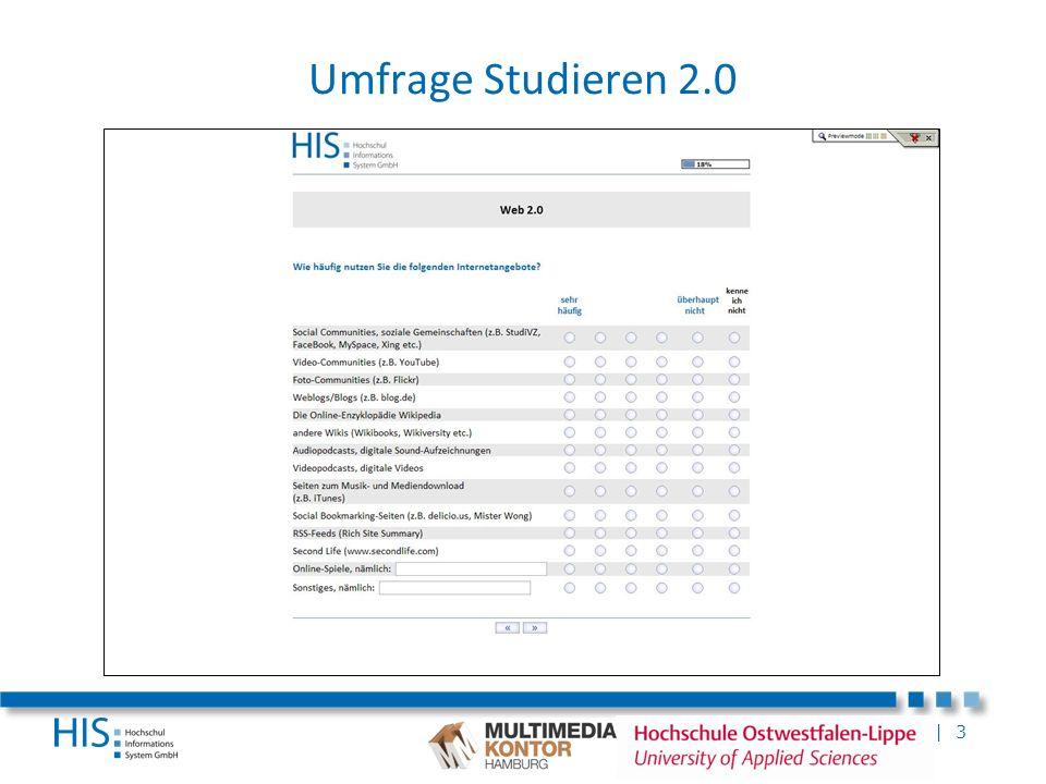 Umfrage Studieren 2.0