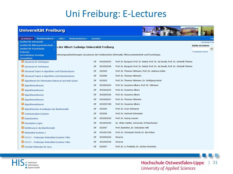 Uni Freiburg: E-Lectures