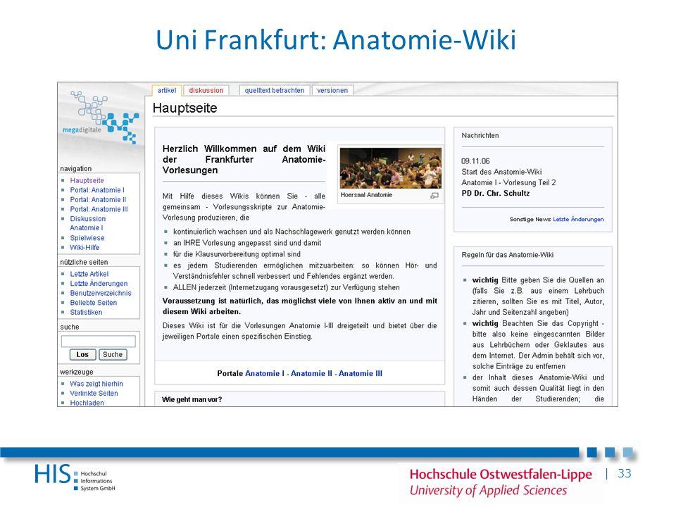 Uni Frankfurt: Anatomie-Wiki