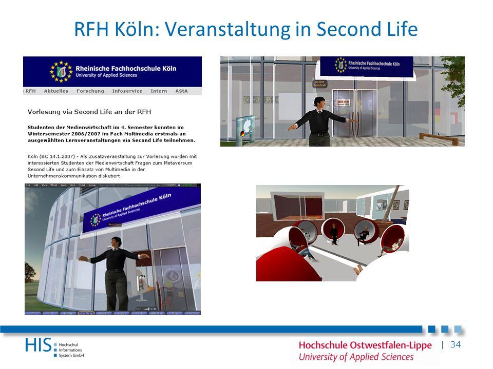 RFH Köln: Veranstaltung in Second Life