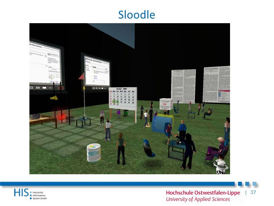 Sloodle Second Life an FH Köln: Zusatzvorlesungen für Studenten der Medienwirtschaft in Second Life im WS 06/07.