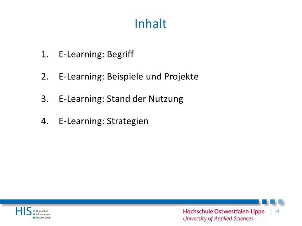 Inhalt E-Learning: Begriff E-Learning: Beispiele und Projekte