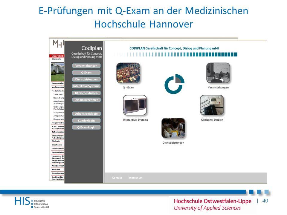 E-Prüfungen mit Q-Exam an der Medizinischen Hochschule Hannover