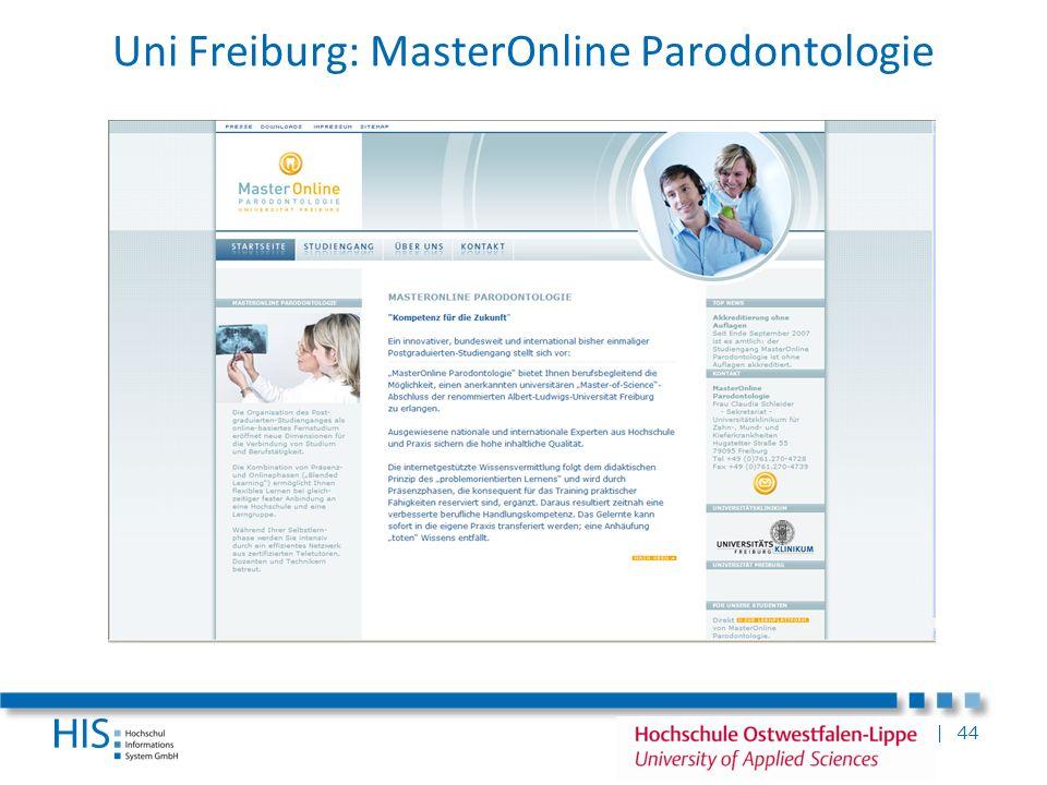 Uni Freiburg: MasterOnline Parodontologie