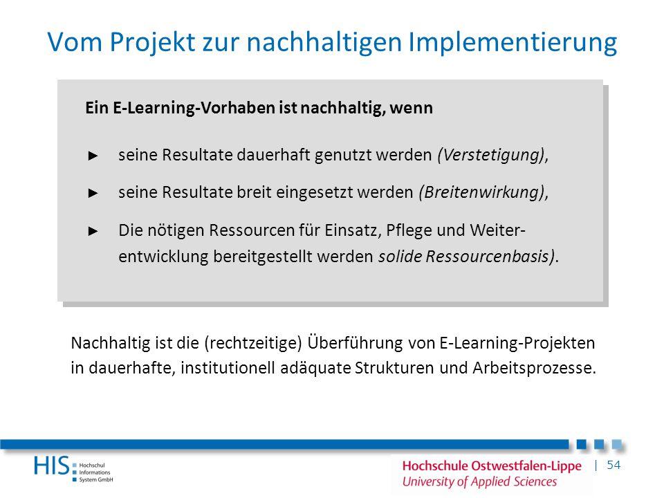 Vom Projekt zur nachhaltigen Implementierung
