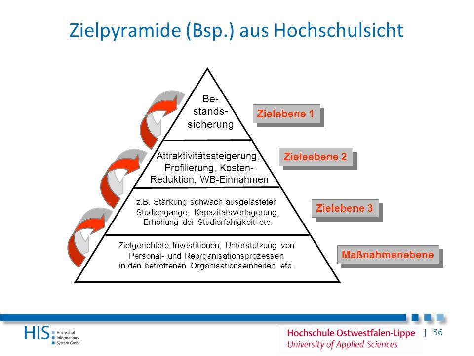 Zielpyramide (Bsp.) aus Hochschulsicht