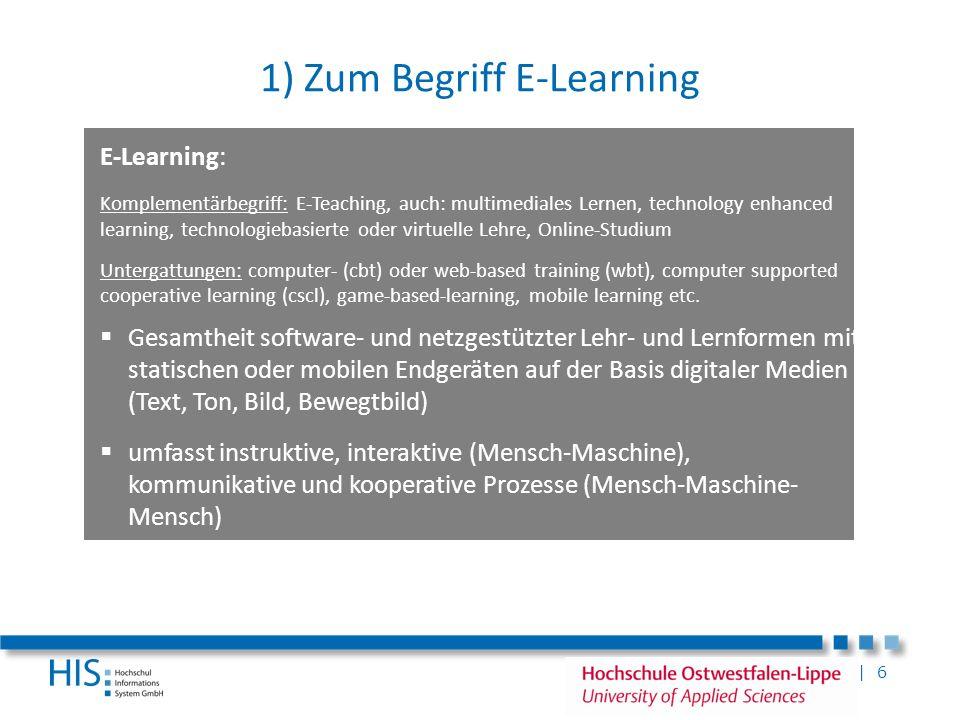 1) Zum Begriff E-Learning