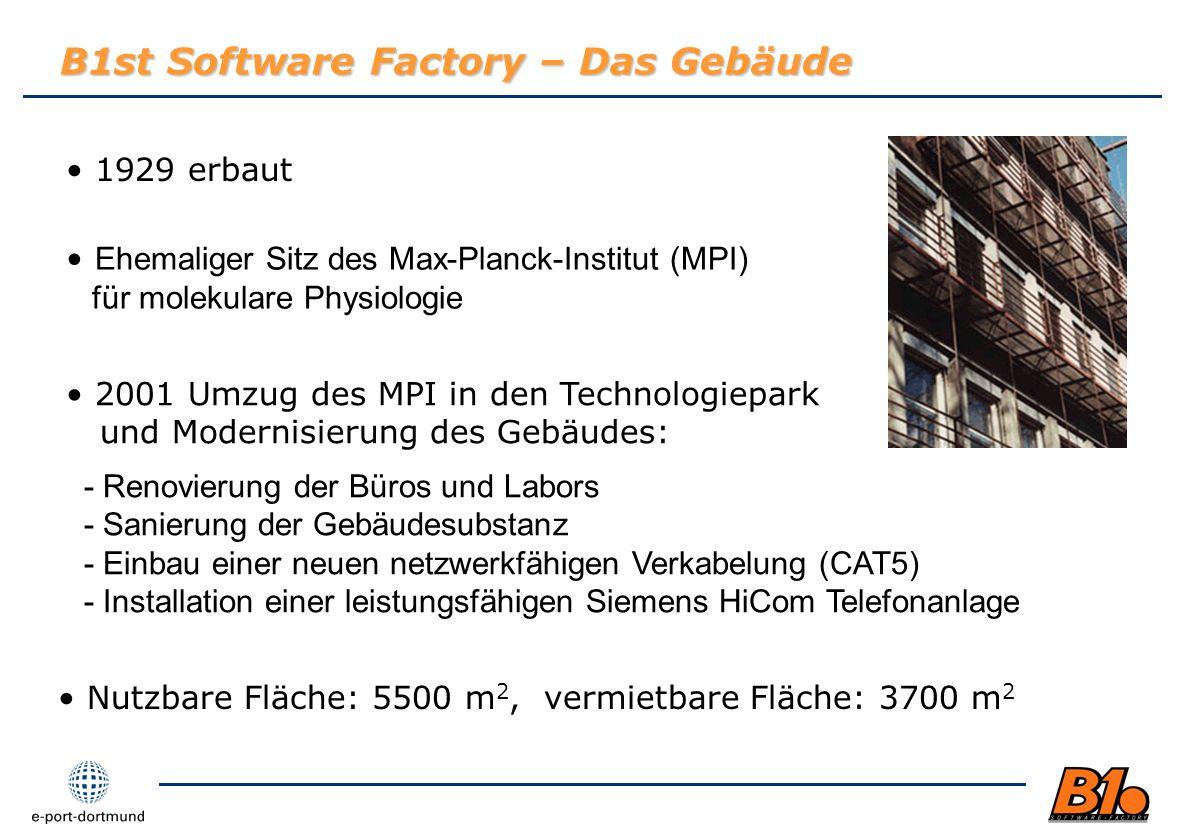 B1st Software Factory – Das Gebäude
