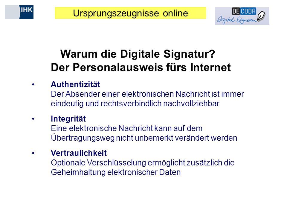 Warum die Digitale Signatur Der Personalausweis fürs Internet