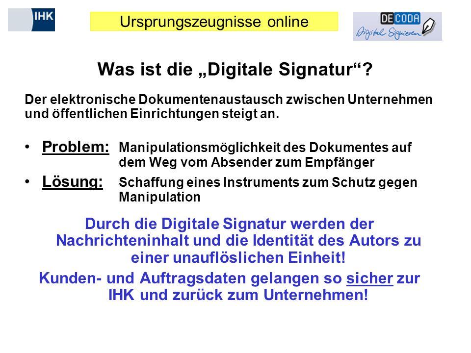 "Was ist die ""Digitale Signatur"