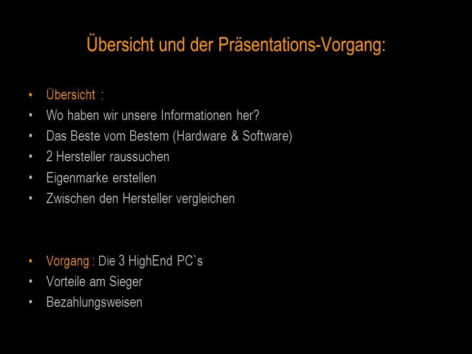 Übersicht und der Präsentations-Vorgang: