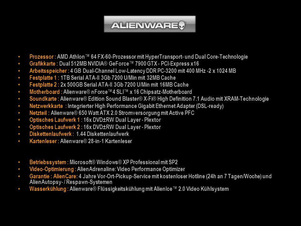 Prozessor : AMD Athlon™ 64 FX-60-Prozessor mit HyperTransport- und Dual Core-Technologie